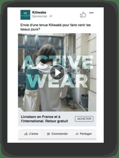 KITIWAKE facebook trafic vers le site